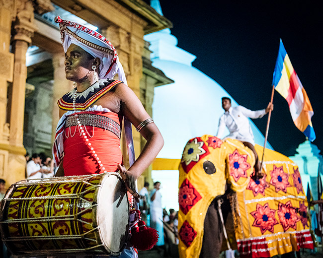Duruthu Perahera Full Moon Pageant by Ben Pipe