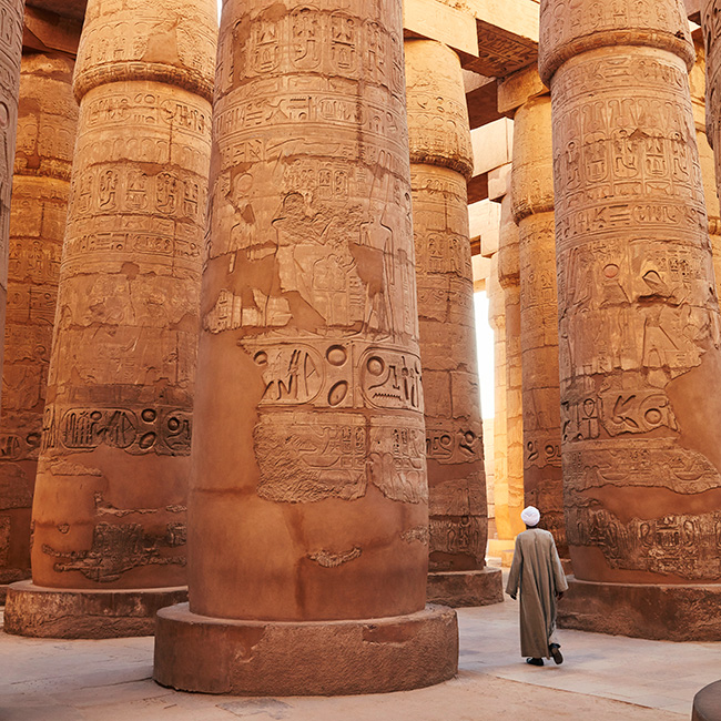 Hypostyle Hall, Temple of Karnak by Richard Taylor