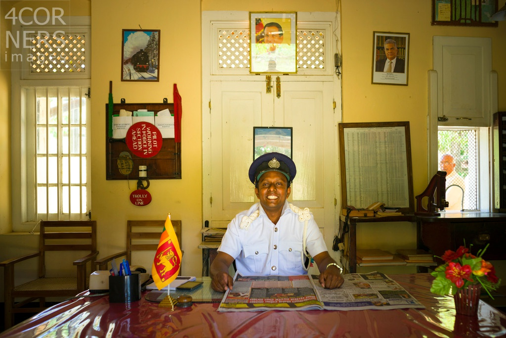 The Station Master, Sri Lanka by Gavin Gough