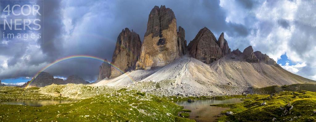 Rainbows in the Dolomites by Manfred Bortoli