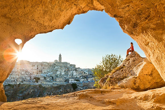 Landscape images of Basilicata and Puglia
