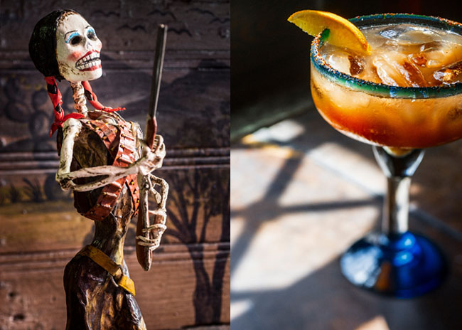A Hallowe'en Margarita from Sime Books Mexican Food Drink and Landscape images