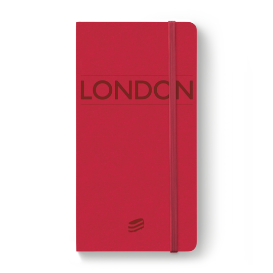 The Red London Notebook by Sime Books infinitely customisable, this notebook will be admired by everyone!