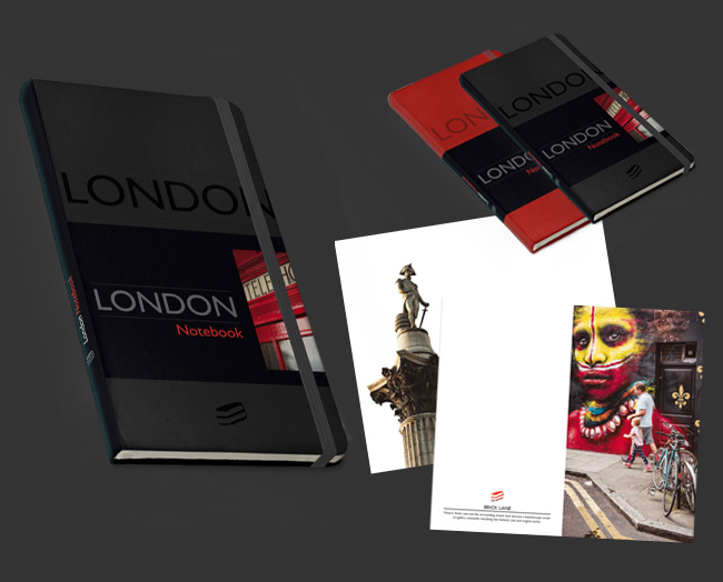black London notebook by Sime Books
